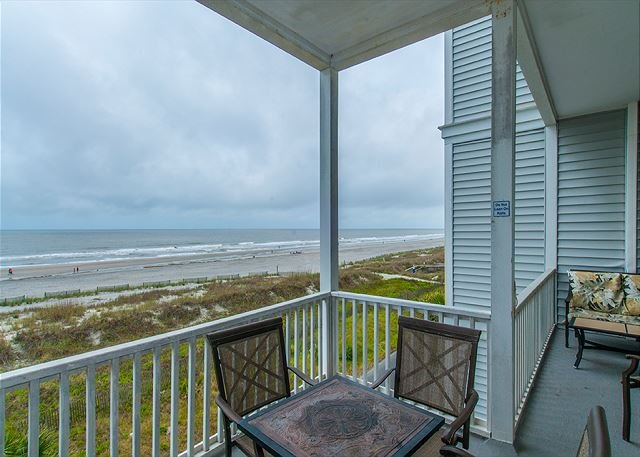 View from Covered Deck - Seacoast Villas 5 - Views of the Atlantic from 2nd Story - Folly Beach - rentals