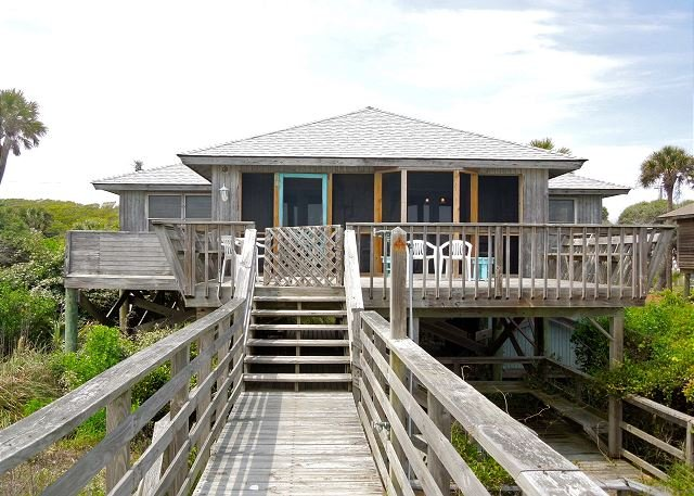 Exterior - Sho-Rest - Perfect Oceanfront Home for Relaxing Outdoors - Folly Beach - rentals