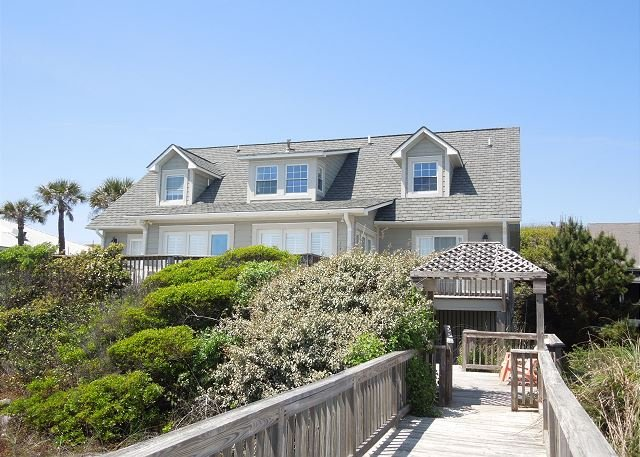 Exterior from the Beach - Shore Thang - Eclectic and Whimsical Beachfront Home - Folly Beach - rentals