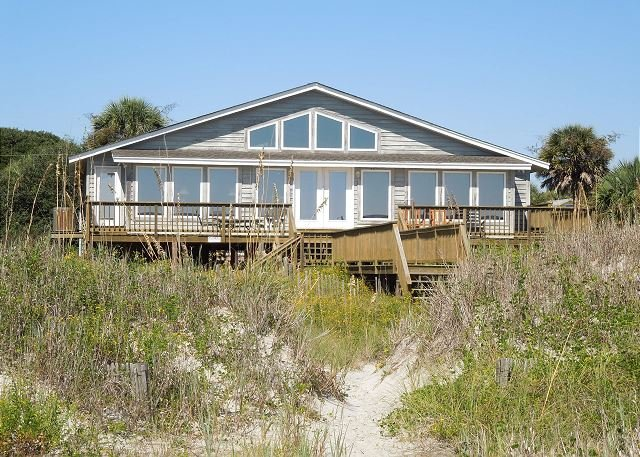 Exterior - Summertime - Beautiful Home Overlooking the Ocean - Folly Beach - rentals