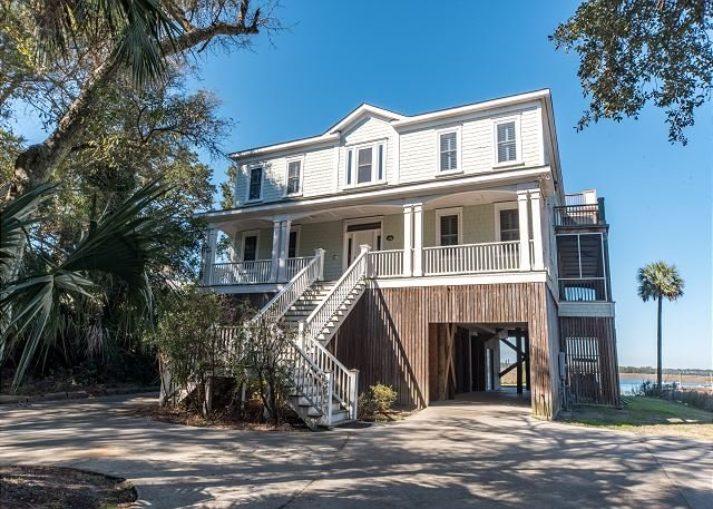 Exterior - The Tabby House - Riverfront with Large Private Boat Dock - Folly Beach - rentals
