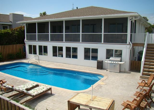 Oceanfront Pool - Tranquilisea - Oceanfront with a Pool - Folly Beach - rentals