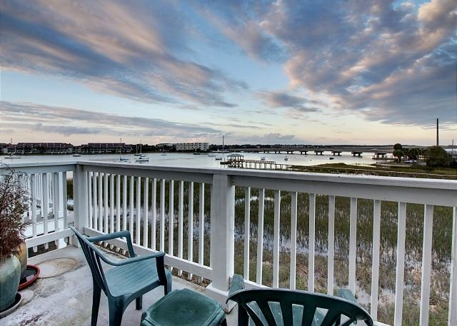 Master Bedroom Deck - Water's Edge 110 - Relax by the Folly River - Folly Beach - rentals