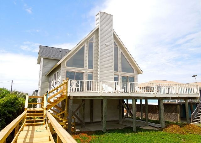 Exterior View - Westwind - Watch the Waves from the Oceanfront Deck - Folly Beach - rentals