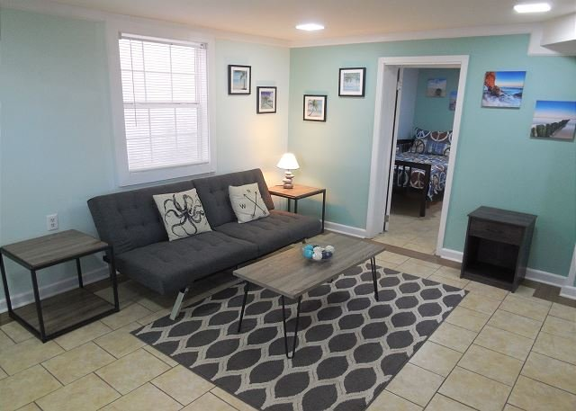 Living Area - Sunny Side Down - Renovated Duplex just blocks from the Beach!! - Blue Mountain Beach - rentals