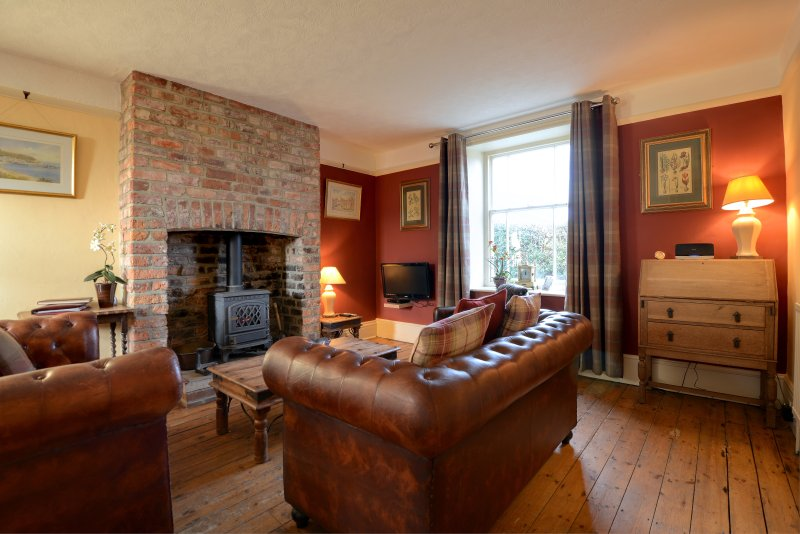 Chapel Cottage large family lounge with ample seating and big squishy cushions and gas stove - ChapelCottage Rated Excellent on Trip Advisor 2013 - Whitby - rentals
