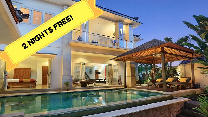 Stay with us for a  minimum of 5 NIGHTS AND GET FREE 2 NIGHTS stay with FREE BREAKFASTS!!! - FAVOURITE SEMINYAK BEACH*VILLA*BIG*ECO*FAMILY*5BED4BATH*POOL*5 STAR SERVICE* - Seminyak - rentals