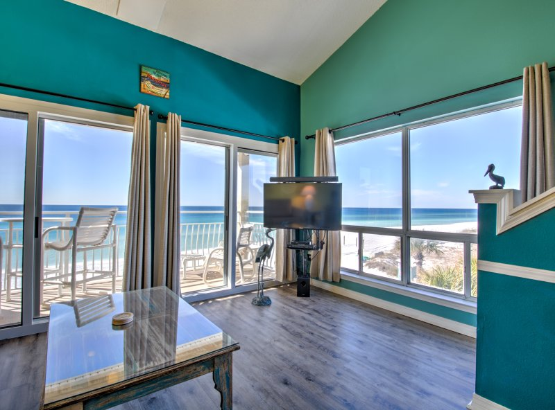 Sitting  Room West/ Sunset and South View  - Destin Crystal Sands 314B/  270 Deg Panoramic View - Destin - rentals