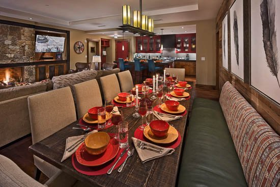Dining Area - One Steamboat Place - Sundance Mountain #508: Ski-in/ski-out Luxury - 4BR - Steamboat Springs - rentals