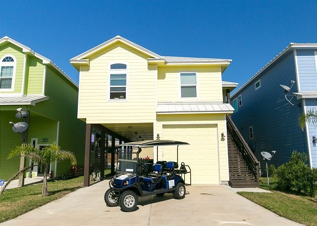 Free Golf Cart - Serendipity: New Home, Private Pool, Close to Beach, *FREE 6 SEAT GOLF CART - Port Aransas - rentals