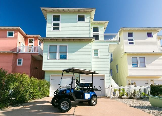 Free Golf Cart - Cowabungalow: PRIVATE POOL! *Free Golf Cart, Elevator, Close to Beach - Port Aransas - rentals
