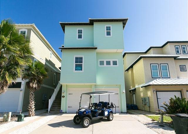 Free Golf Cart - Vista Grande: AMAZING Ocean Views,*FREE 6 PASSENGER GOLF CART, Pool, Walkover - Port Aransas - rentals