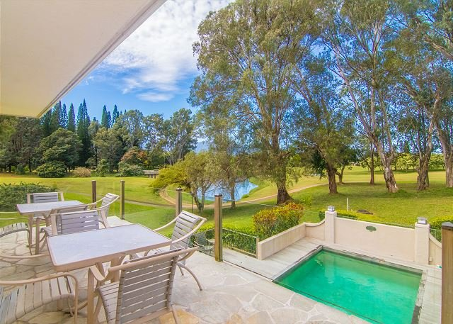 Kalani Villa:4 Bedroom home with pool and amazing golf course/mountain views! - Image 1 - Princeville - rentals