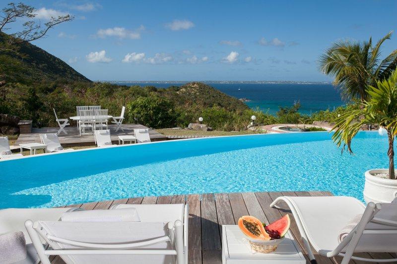 CAYE BLANCHE... elegant, spacious 7BR villa with sea views - Image 1 - Anse Marcel - rentals