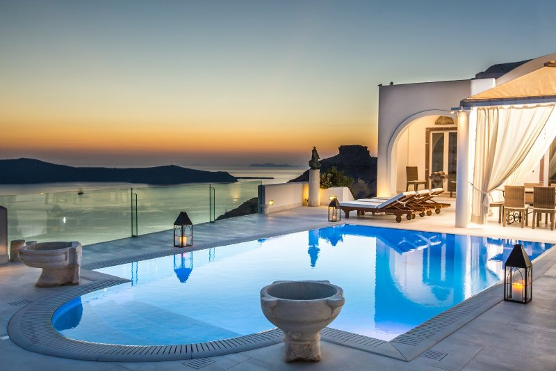 Blue Villas | TC | Gorgeous pool area - Image 1 - Firostefani - rentals