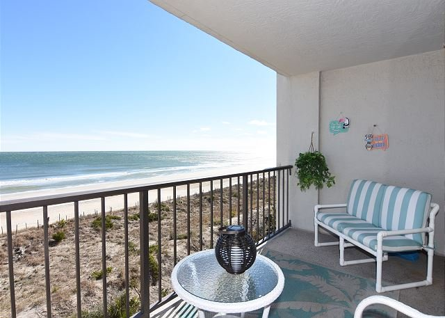 Station One 4C - Oceanfront Balcony - Station One - 4C DiRosa - Oceanfront condo with community pool, tennis, beach - Wrightsville Beach - rentals