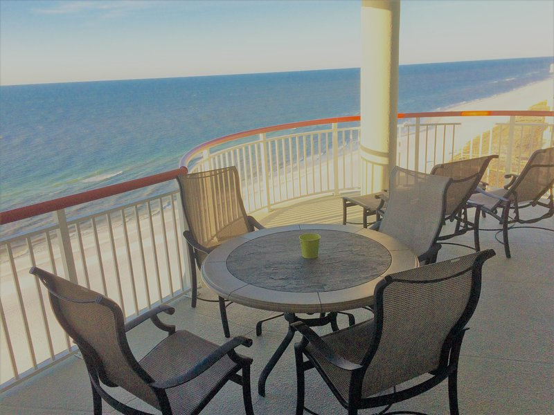 Enjoy a cup of coffee, a meal, or just relax and enjoy the view on your balcony - Beach Colony East Spectacular Views Beachfront - Navarre - rentals