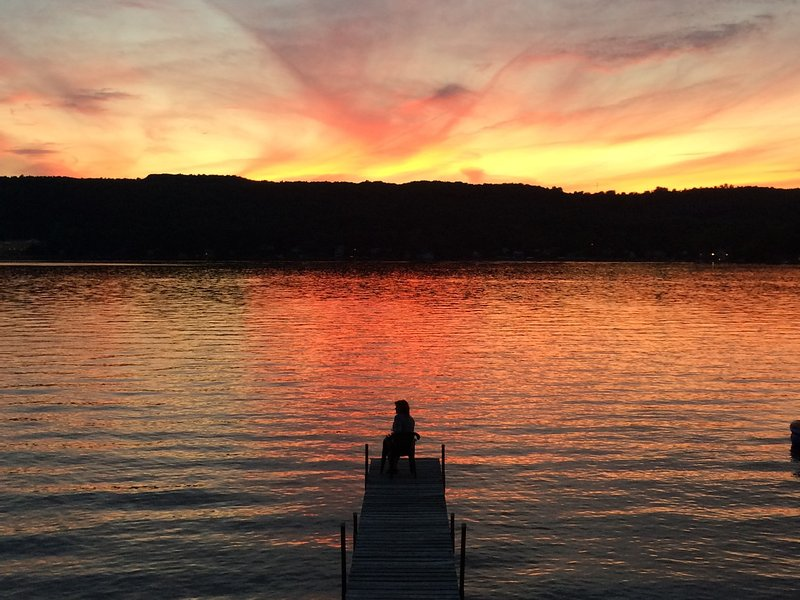 The view from the deck! Stunning! - Book NOW for gorgeous sunsets on Keuka Wine Trail! - Keuka Lake - rentals