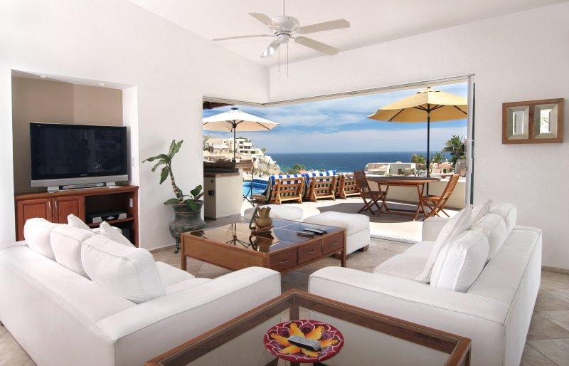 What you see when you walk in the front door - Villa Del Toro Rojo - 6BR Luxury Ocean View Villa - Cabo San Lucas - rentals