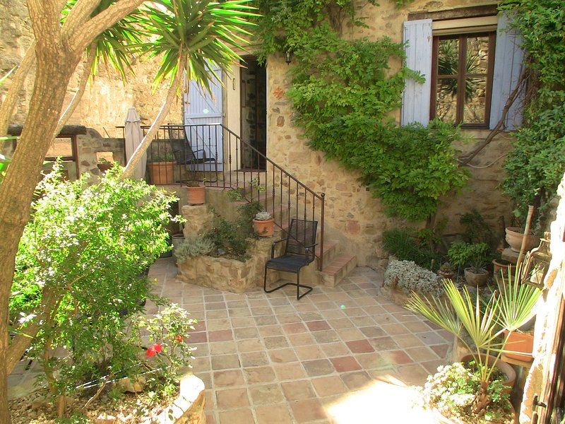Sheltered sunny courtyard - Romantic village house with courtyard and views - Pezenas - rentals