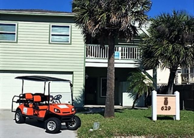 Free Golf Cart - Steps to the Beach, Large Private Pool, *Free 6 Seat Cart, Ocean View Deck - Port Aransas - rentals