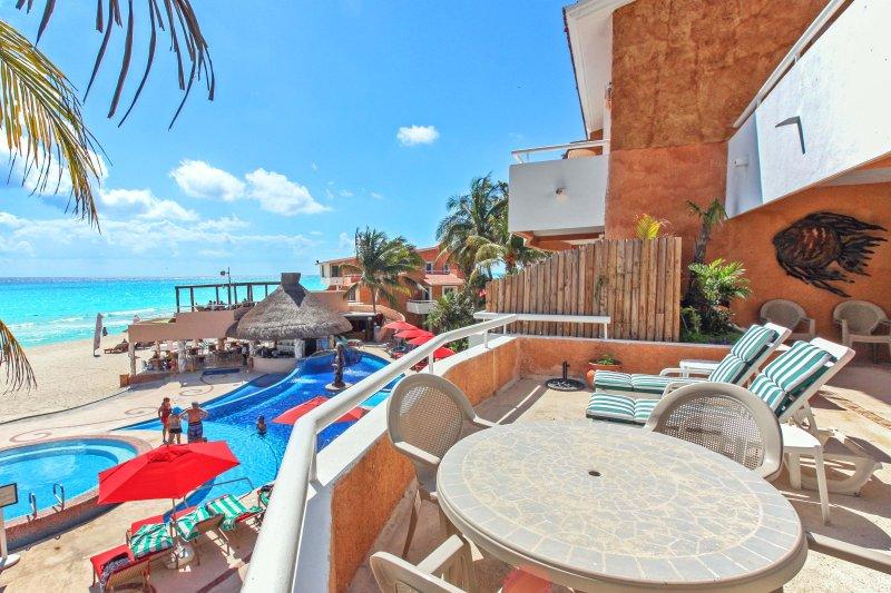 Your private ocean view terrace - Ocean View Condo in Playacar  - Fishermens 228 - Playa del Carmen - rentals