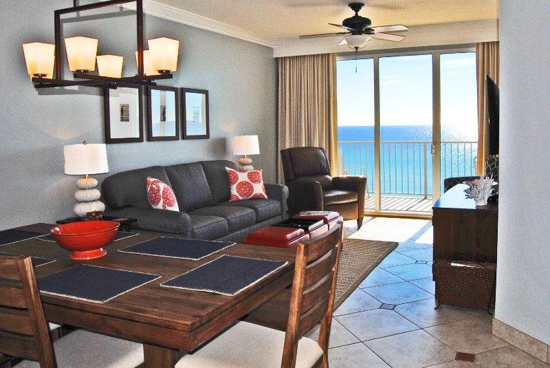 Living Room Gulf Dunes 612 Fort Walton Beach Okaloosa Island Vacation Rentals - Gulf Dunes Resort, Unit 612 - Fort Walton Beach - rentals