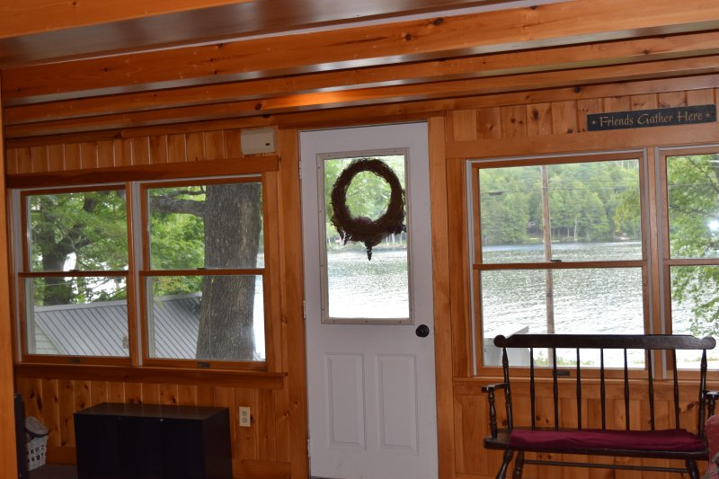 Water views from the front of the house - Spacious Home on Twitchell Pond - 15 min to Bethel - Greenwood - rentals