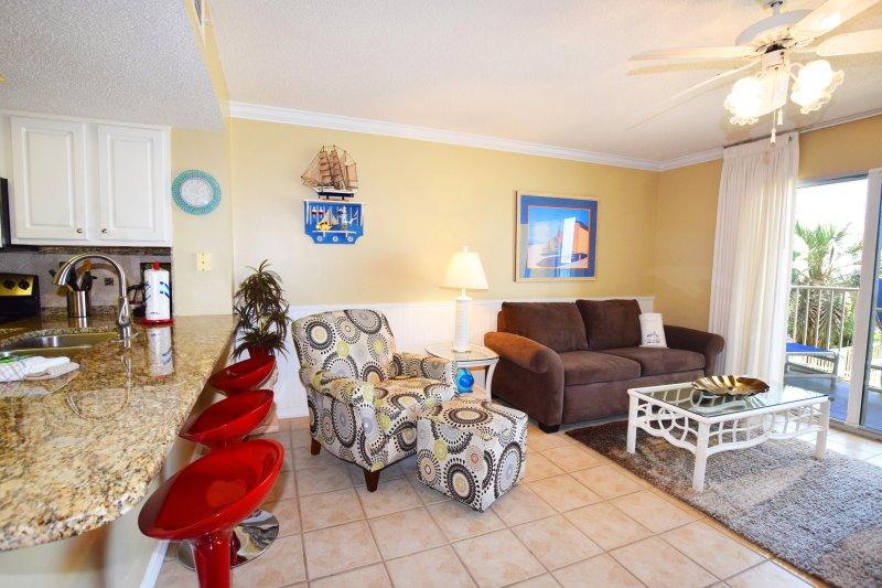 Living Room Gulf Dunes 114 Fort Walton Beach Florida Okaloosa Island - Gulf Dunes Resort, Unit 114 - Fort Walton Beach - rentals
