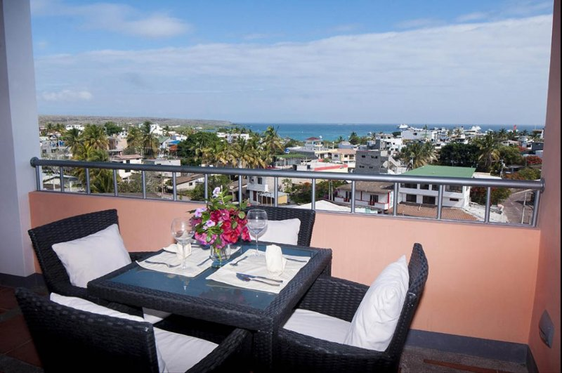 Ocean view private covered terrace. - Ocean view Penthouse - Puerto Ayora - rentals