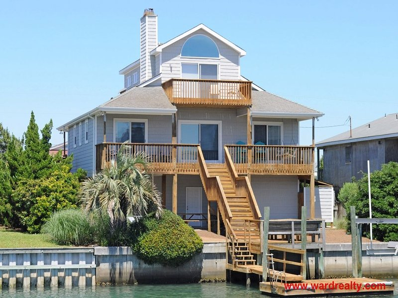 Canalfront Exterior - Temporary Sanity - Topsail Beach - rentals