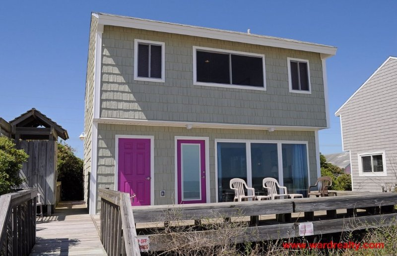 Oceanfront Exterior - Marble Winds - Surf City - rentals