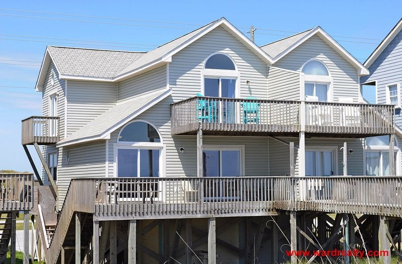 Oceanfront Exterior - Dolphin Watch S - North Topsail Beach - rentals