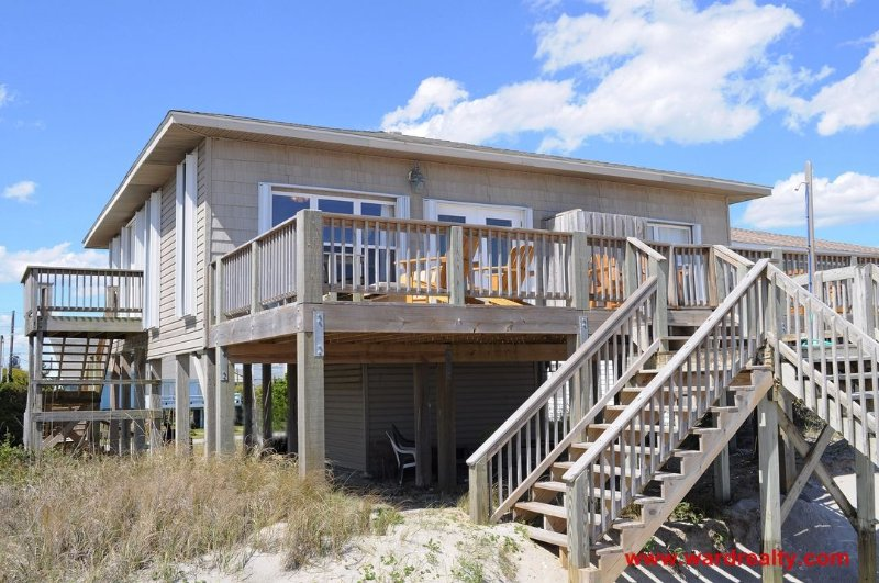 Oceanfront Exterior - 3 Bedroom, Oceanfront - Moondoggy - Surf City - rentals