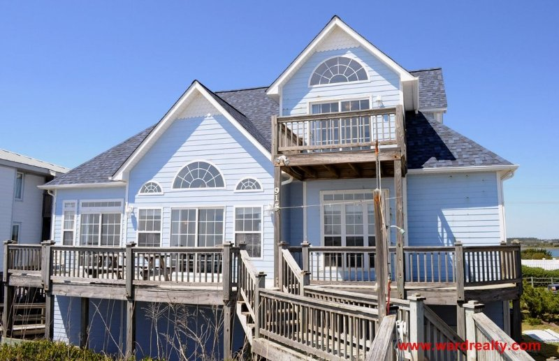 Oceanfront Exterior - Sea Splash - Topsail Beach - rentals
