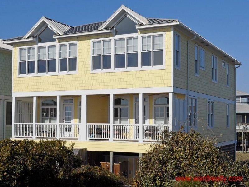 Oceanfront Exterior - A Devine View - Topsail Beach - rentals
