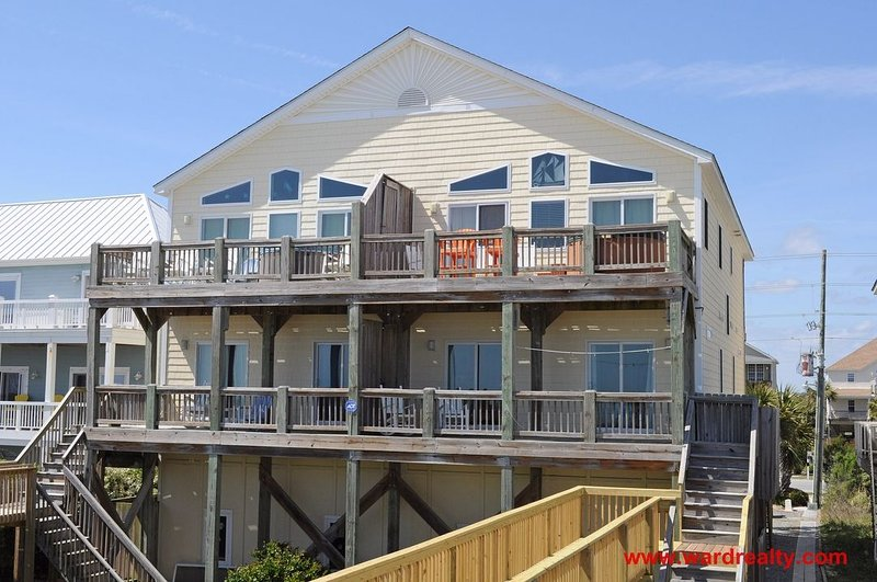 Oceanfront Exterior - Raindrops on Roses - North Topsail Beach - rentals