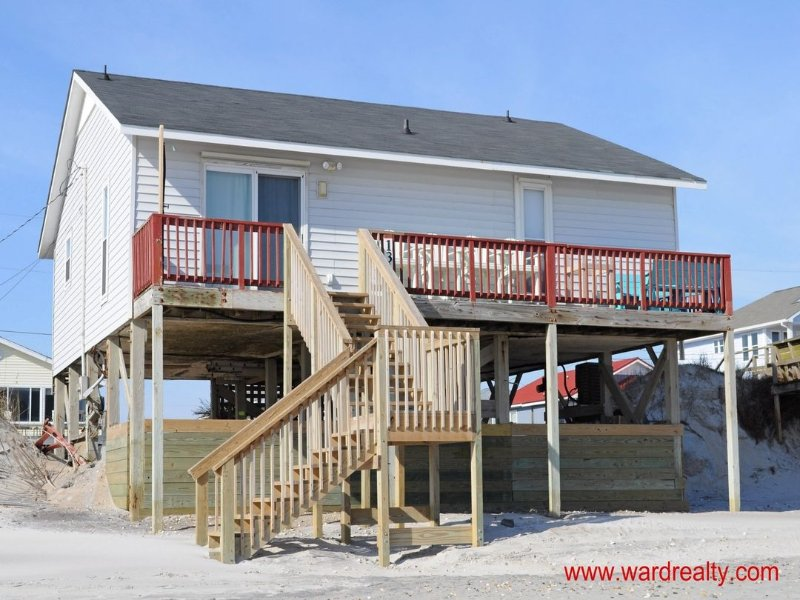 Oceanfront Exterior - Rest Ashored - Surf City - rentals