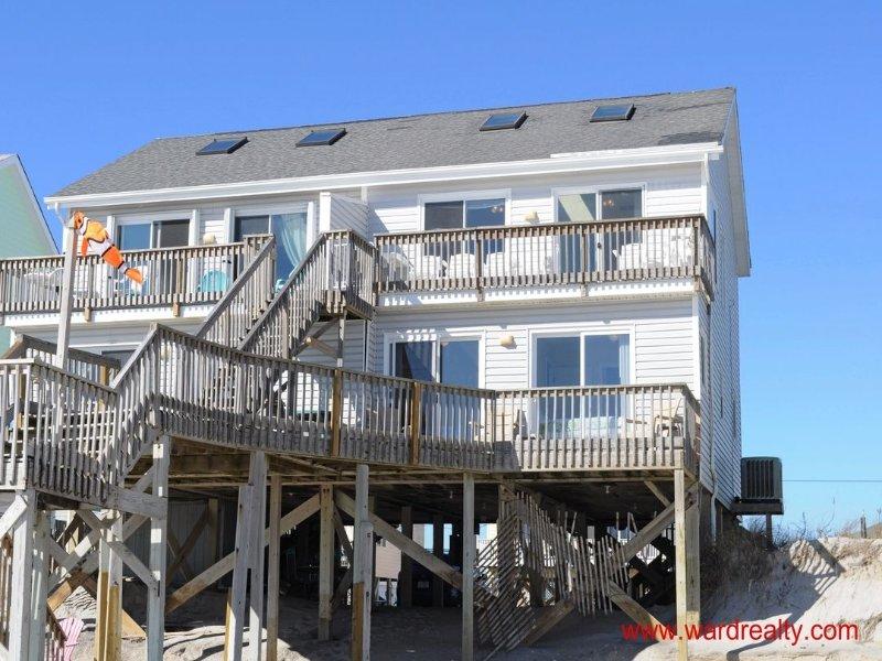 Oceanfront Exterior - Castaway - Surf City - rentals