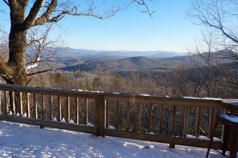 """View from main deck Jan2017 - Cloud 9 """"Spectacular Mountain View"""" Helen GA - Helen - rentals"""