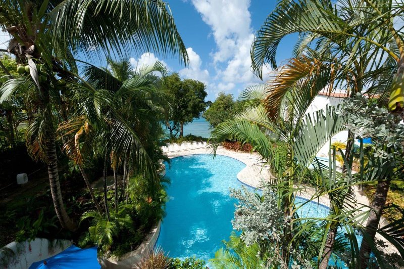 Merlin Bay - Gingerbread: Poolside views from the patio - Merlin Bay - Gingerbread: Private Roof-deck - Saint James - rentals