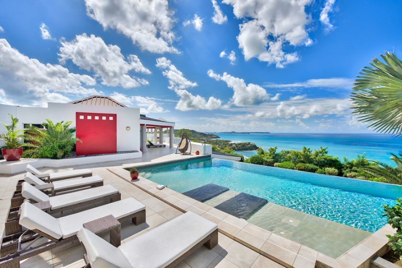 BELLE DE NUIT... Fabulous contemporary 5BR estate in secluded Happy Bay...Wow! - Image 1 - Saint Martin-Sint Maarten - rentals