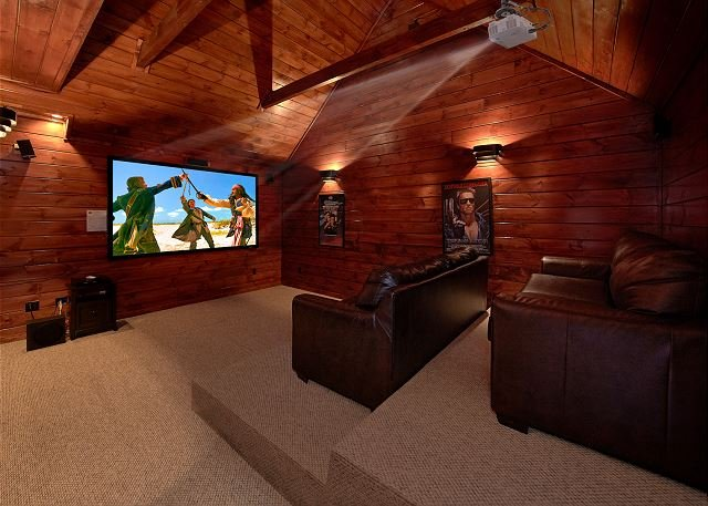 Private Theater Room - Luxury 3 bedroom cabin - Image 1 - Gatlinburg - rentals