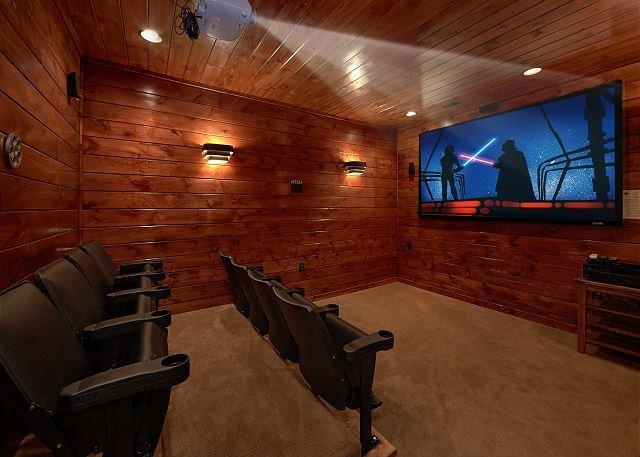 3 Master Suite Cabin with Private Home Theater Room and Sauna - Image 1 - Gatlinburg - rentals