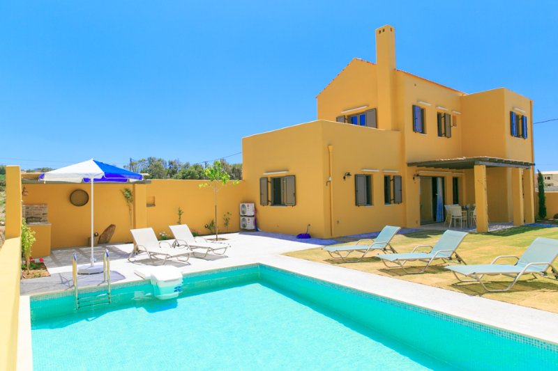 Swimming Pool With Sun Loungers - Villa Liakada - Panormo - rentals