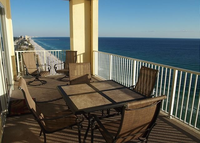New! Platinum Level Gulf Front Corner Unit. Free Beach Service and Free Wifi. - Image 1 - Panama City Beach - rentals