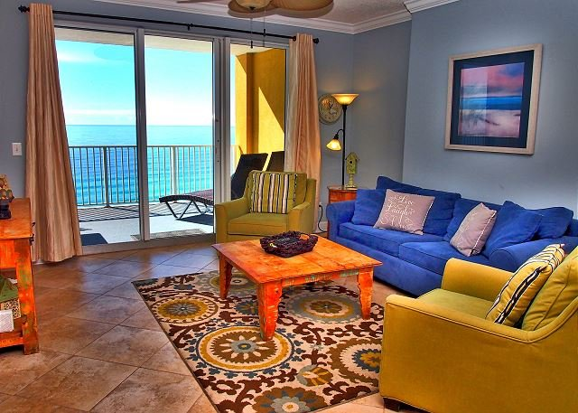 Platinum Side-by-Side 4 Bedroom Condo, Beach Service, Bring the whole Family! - Image 1 - Panama City Beach - rentals