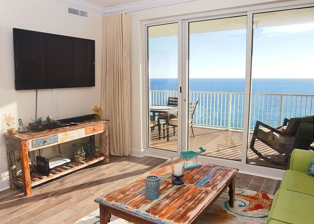 GULF FRONT CONDO in Ocean Reef- Huge Balcony w/ amazing views! FREE BEACH SVC - Image 1 - Panama City Beach - rentals