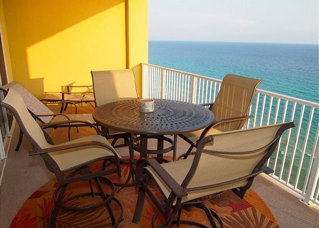 Private, furnished balcony - Stay in Tropic Winds 1705! 2 Bedroom, Free Beach Service! Highly Rated! Nice! - Panama City Beach - rentals
