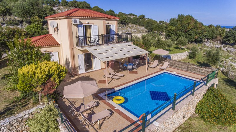 Villa With Private Pool and Sea Views - Villa Olympia - Skala - rentals
